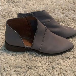 NWT Lucky D'Orsay Gray Studded Bootie